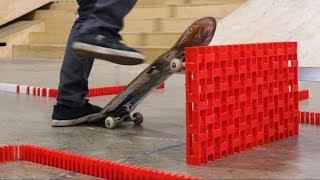 INSANE Domino Obstacle Course through a Skatepark! (ft. Braille Skateboarding)