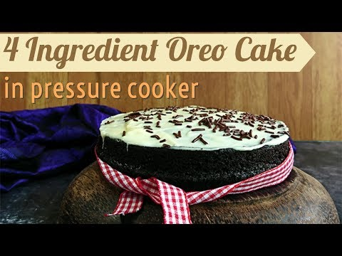 Oreo Cake in Pressure Cooker | easy 4 Ingredients oreo biscuit cake without oven/microwave
