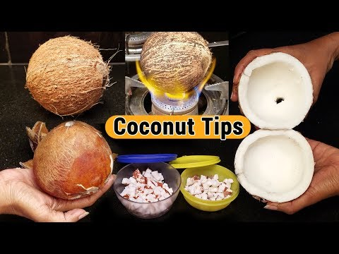 How to remove the coconut meat from the shell | How to Store coconut for a month