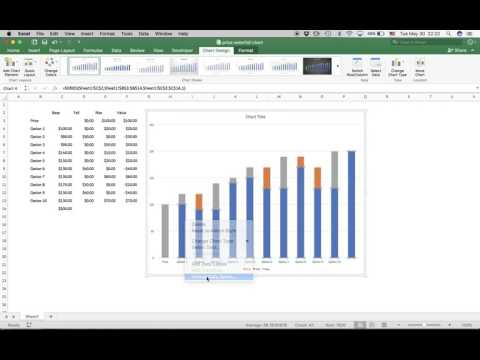 Waterfall Chart using Excel (pre 2016)