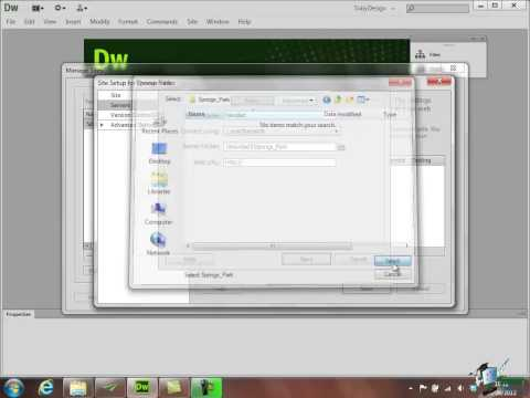 Dreamweaver CS6 Training - Part 22 - Setting up a Test Server - Creating a Website Course