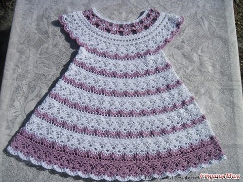 How To Crochet A Baby Dress With A Bow Free Baby Dress Knitting