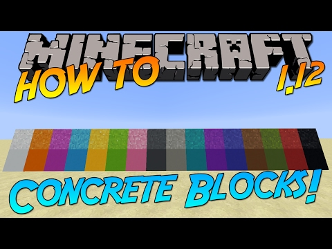 Minecraft 1.12 | How To: Craft Concrete & Concrete Powder Blocks!