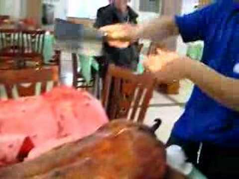 Cutting Roast Pig
