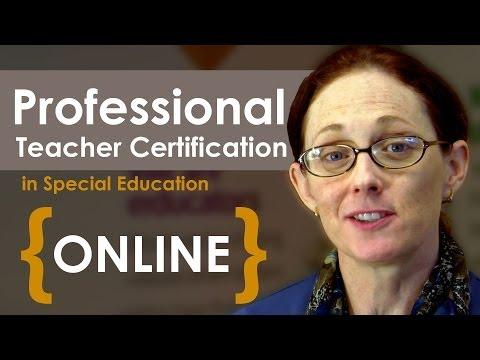 Earn Professional Teacher Certification Online