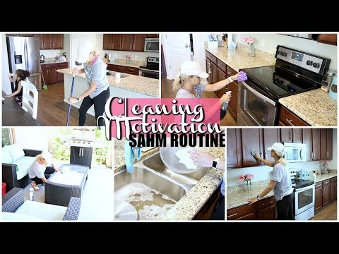 CLEANING MOTIVATION | CLEAN WITH ME 2018 | SAHM ROUTINE