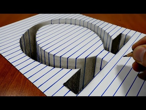 3D Trick Art on Paper   Letter Omega   Greek Alphabet
