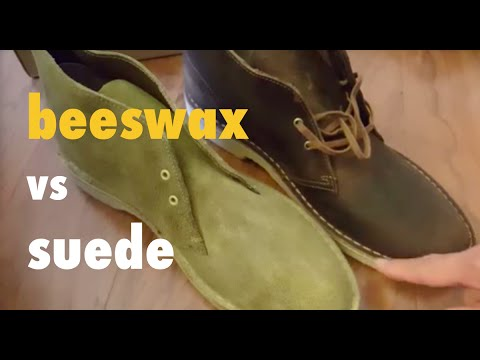 Comparing Clarks Desert Boots Beeswax unboxing vs Suede