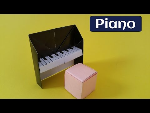 How to make an easy paper 'Piano'  - Origami tutorial