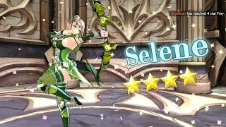 KING'S RAID: MAKING °SELENE° TO 4 STARS🌟🌟🌟🌟 + HOW TO LVL UP HEROES FAST