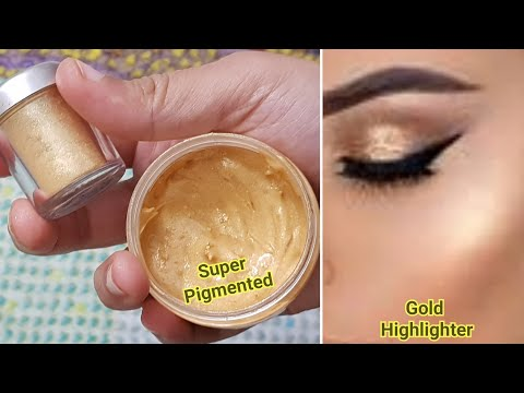 DIY Cream Gold Highlighter/ Make your own Highlighter at home/DIY primer / Gold Face illuminator