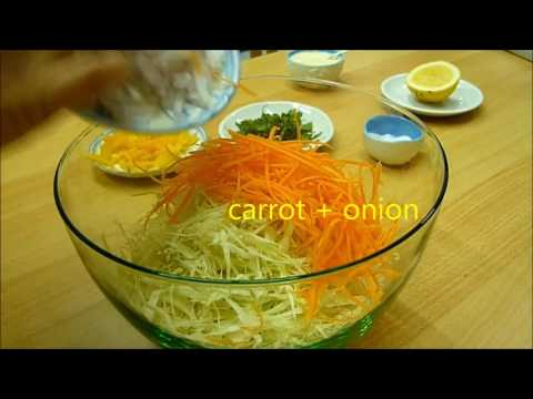 CABBAGE SALAD RECIPE  CABBAGE WITH BELL PEPPER #salad #cabbage