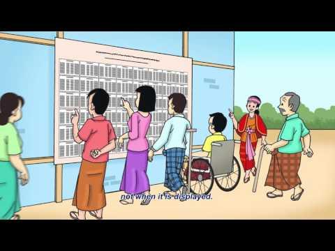 Myanmar: Check Voter List 2017 (Bamar version–English subtitles)