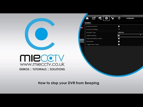 How to stop your Alliance and Hikvision DVR beeping