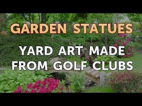 Yard Art Made From Golf Clubs