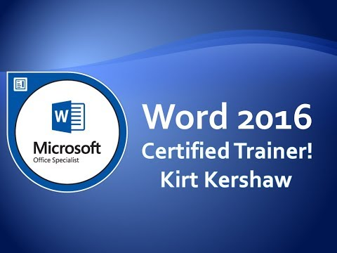 Microsoft Word 2016 Tutorial for Beginners – How to Use Word Part 13