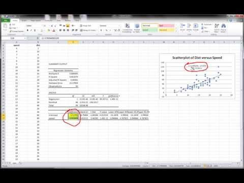 Excel - Simple Linear Regression