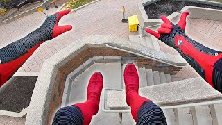 Download Infinity War Spiderman Parkour POV In Real Life (Iron Spider, Gopro) Video