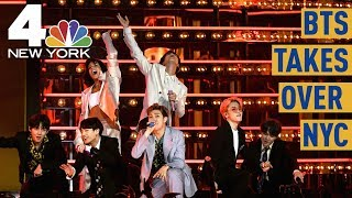 Cold Rain No Match for BTS Army Awaiting Central Park Show | NBC New York