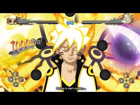 Boruto Awakens Six Paths Bijuu Sage Mode - Naruto Shippuden Ultimate Ninja Storm 4 Road to Boruto