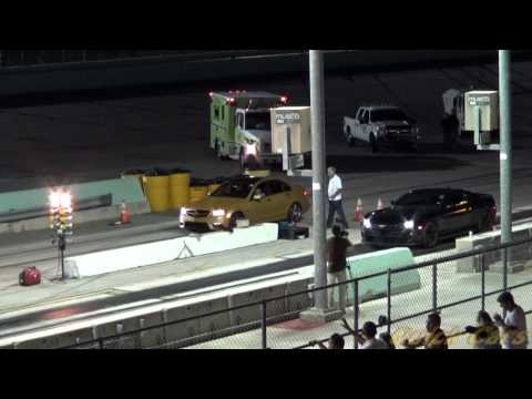 ZL1 Camaro races Mercedes-Benz C63 AMG