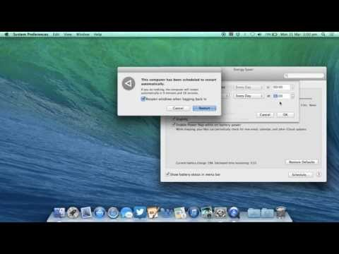 Schedule your Mac to startup or shutdown automatically