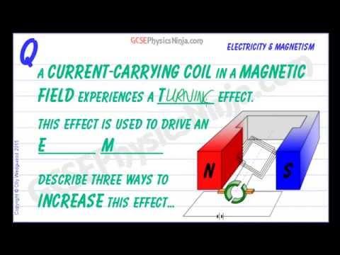 The DC Motor Explained - The Motor Effect - GCSE Physics
