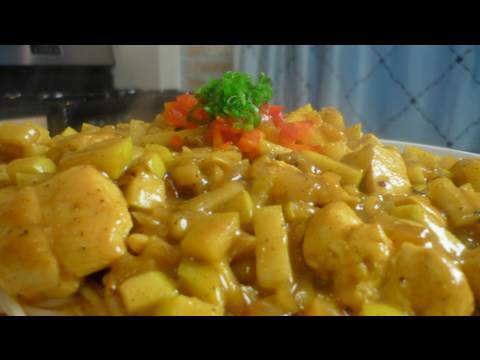 Curry Chicken with Apples and Whole Grain Pasta