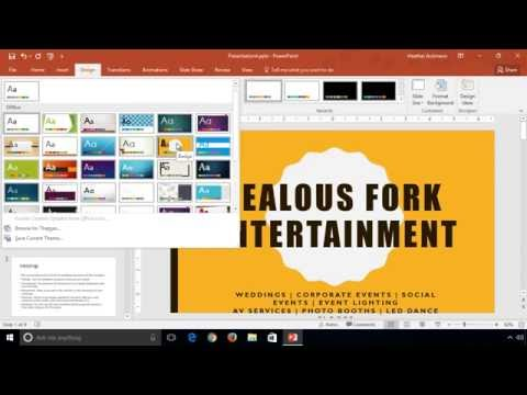 PowerPoint 2016 - Learn How-to Change Themes and Variants