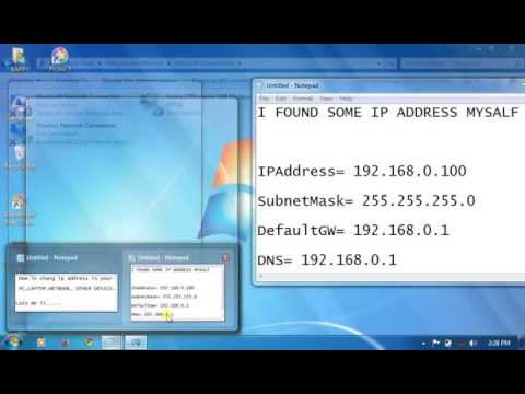 How to Change IP Address in pc , laptop
