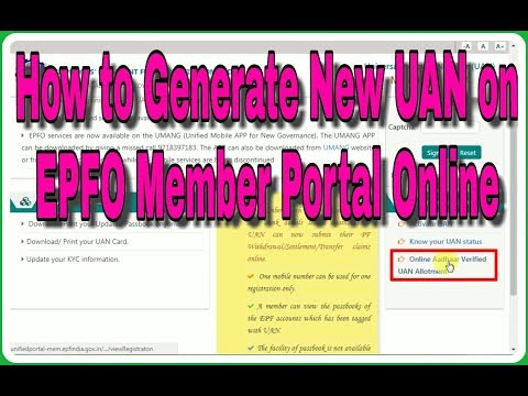 How to Generate New UAN on EPFO Member Portal Online Without Emplorer |Generate UAN Online