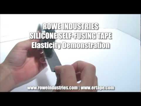 Silicone Self Fusing Repair Tape - ER Tape - Versiwrap - General Elasticity Demonstration
