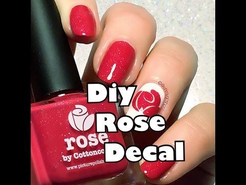 DIY ROSE DECAL