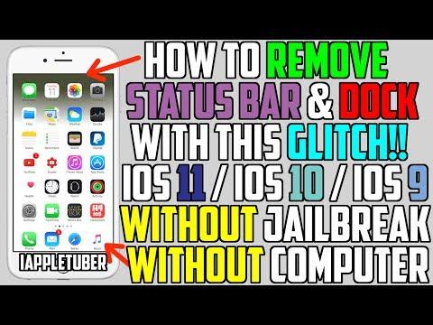 How To Remove iOS Status Bar & Dock Glitch FREE (NO Jailbreak NO Computer) iOS 11 / iOS 10 / iOS 9