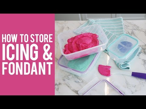 Baking Series: How to Store Leftover Buttercream Frosting, Royal Icing and Fondant