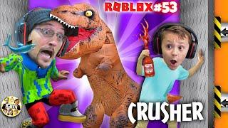 DINOSAUR CRUSHING HOTSAUCE ROBLOX CHALLENGE! #53 (FGTEEV Chase vs Duddz Game)