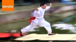 Chinese Kung Fu Master Runs On Water