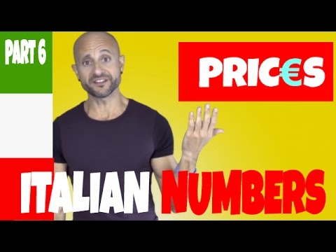 The EURO and How to Express Prices in Italian: Learn Basic Italian and Pronunciation (PART 6)