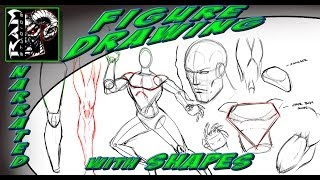 Drawing Lessons Comic Book Art Style Breaking Down Shapes In Figure D