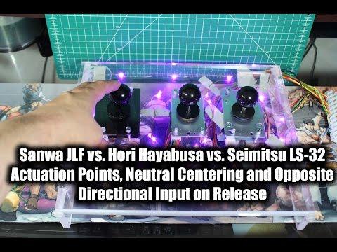 Sanwa JLF vs Hori Hayabusa vs Seimitsu LS-32 : Joystick Centering and Wobble