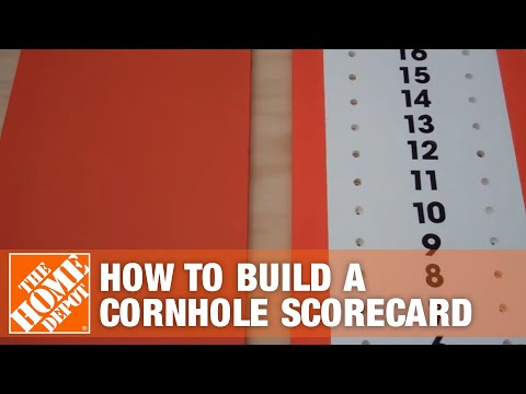 How To Build a Cornhole Scoreboard - The Home Depot