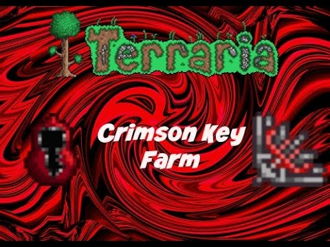 Terraria (ios) 1.2 Crimson key farm