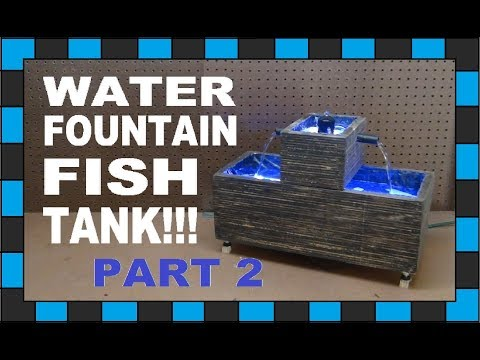 How To Build A Mini Water Fountain Fish Tank!!! // Part Two