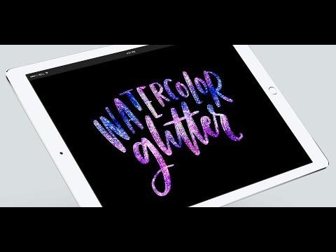Create a Watercolor Glitter Lettering Effect in Procreate