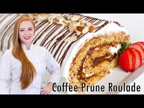 Coffee Roulade with Chantilly Creme