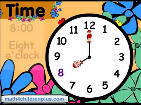Teach children how to read time to the hour on analogue clocks - Fun way to learn time