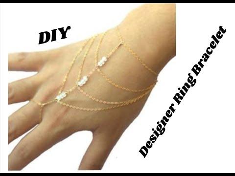 How to make designer ring Bracelet | jewellery tutorials