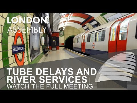 Tube delays and river services