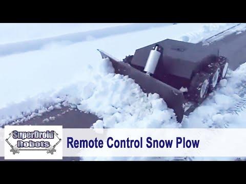 6WD RC Snow Plow Robot
