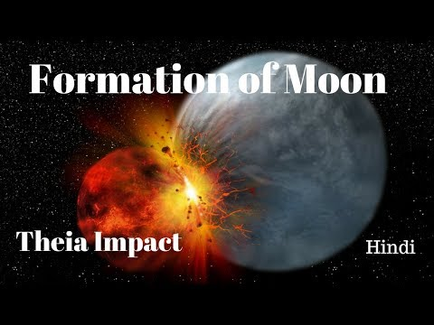 Formation of moon Hindi || Theia Impact